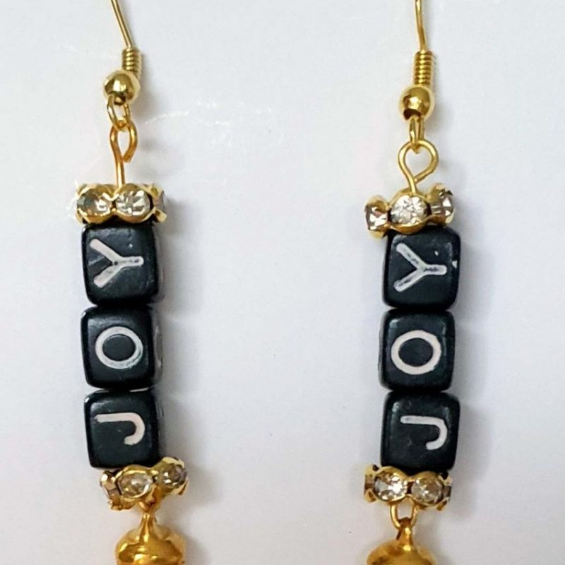 Joy Letter Earrings
