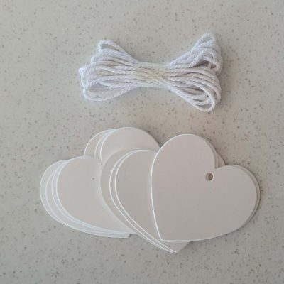 White Heart Swing Tags