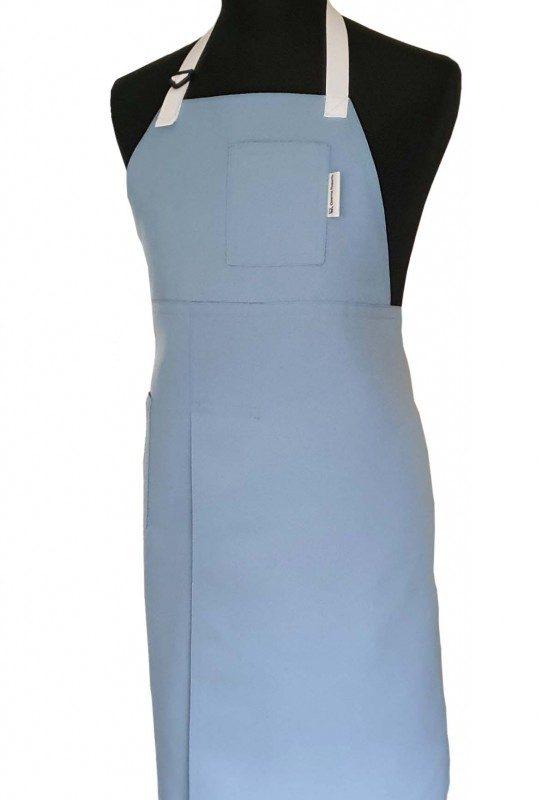 Baby Blue 78 x 90 split-leg apron - Deanna Roberts Studio