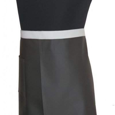 Dark Chocolate vinyl split-leg apron 81 x 67 (1)