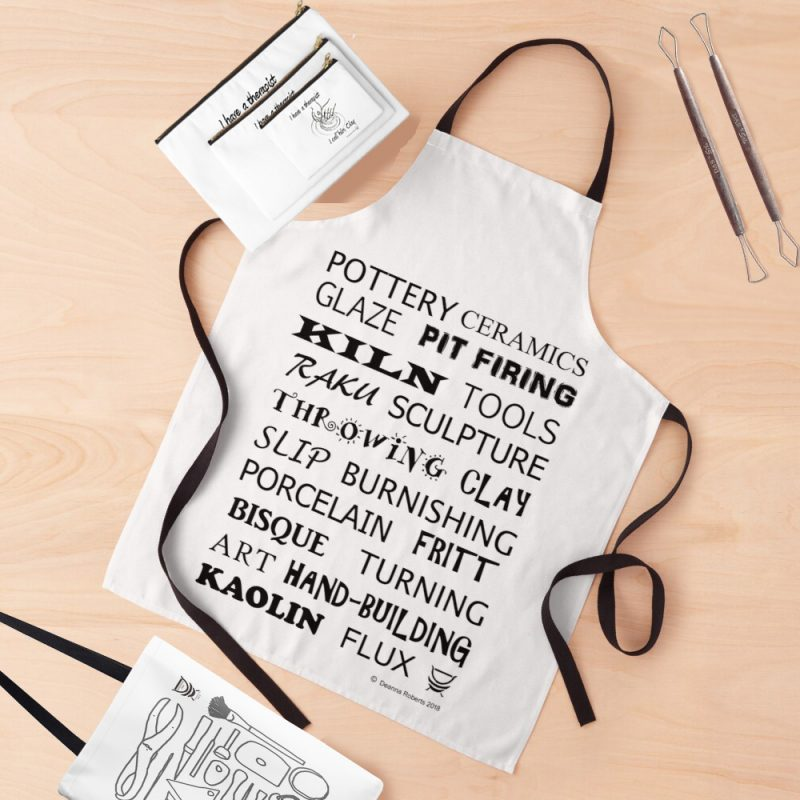 Potters Glossary apron, tees, pouches and bag Red Bubble (6)