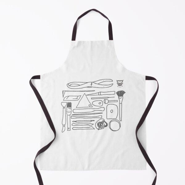 Pottery Design apron - Potters Tools - Deanna Roberts Studio (1)