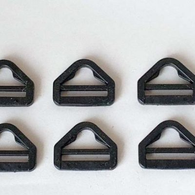 Tri-glide triangular slide clip & strap adjuster plastic buckles (5-pack)