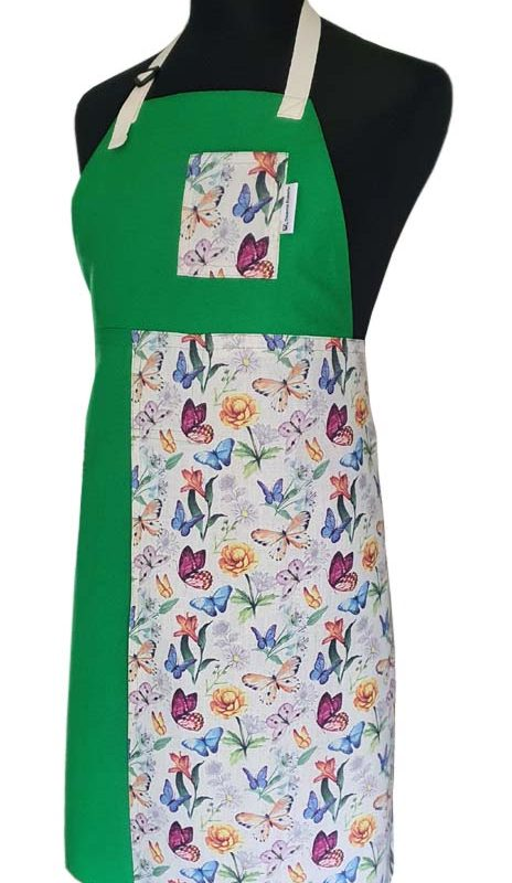 Split-leg apron - Butterfly Meadow - Deanna Roberts Studio 77 x 90