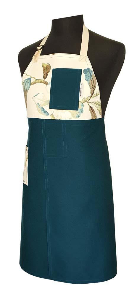 Split-leg apron - Autumn Teal - Deanna Roberts Studio
