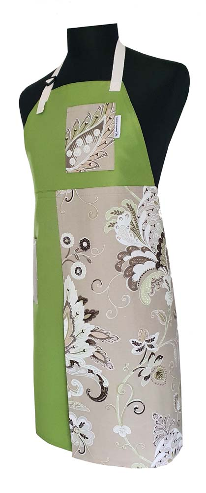 Lime & Mint Cream Split-Leg apron - Deanna Roberts Studio (2)