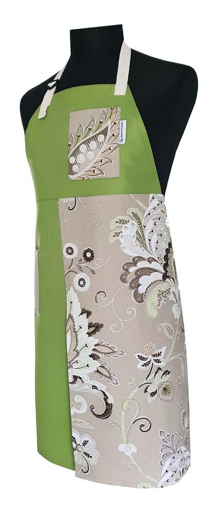 Lime & Mint Cream Split-Leg apron - Deanna Roberts Studio (2)