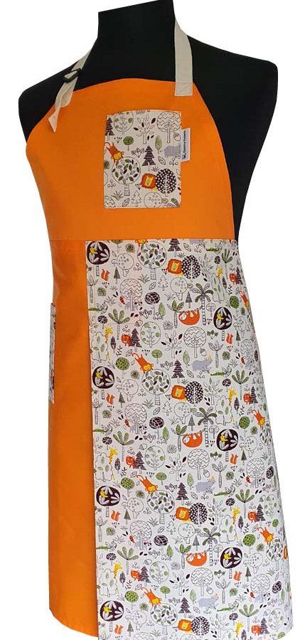 Orange Safari - Split-leg apron - Deanna Roberts Studio 91 x 76 (1)