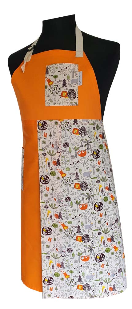 Orange Safari - Split-leg apron - Deanna Roberts Studio 91 x 76 (1)