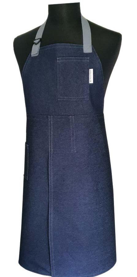 Split-leg apron - Denim Blue (80 x 92) - Deanna Roberts Studio