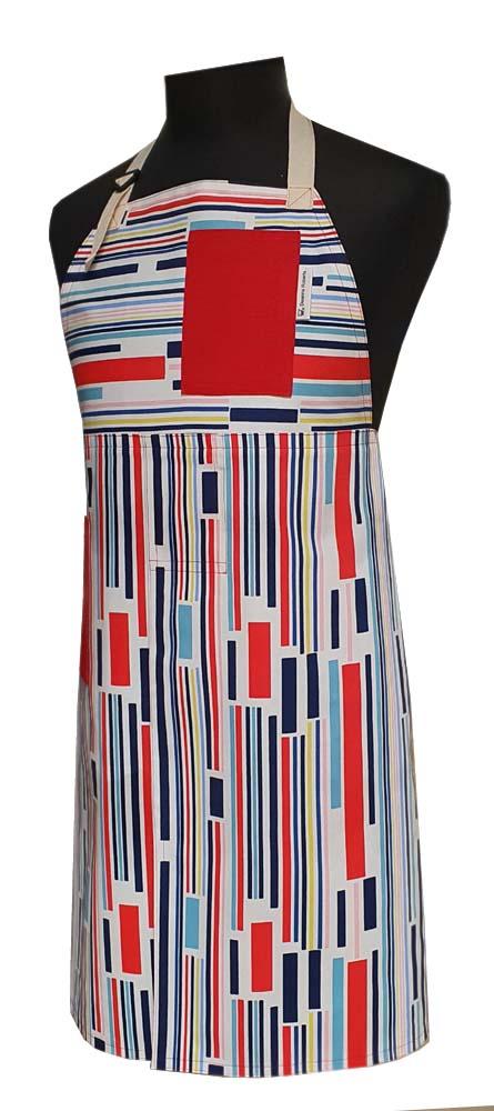 Split-leg apron - On Track (75 x 90) - Deanna Roberts Studio