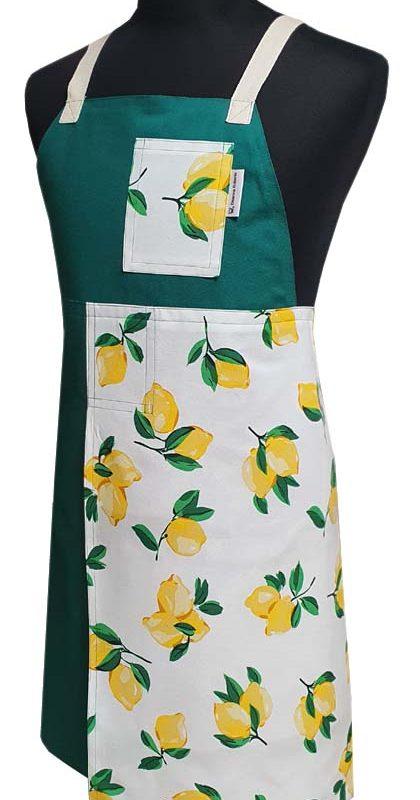 Split-leg apron - Lemon Zest (77 x 88.5) - Deanna Roberts Studio
