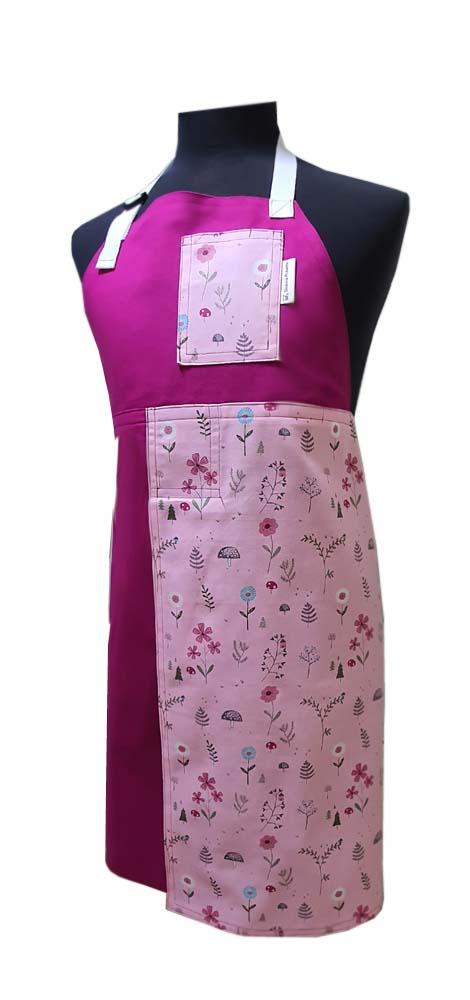 Blossom Pink Split-leg pottery apron - Deanna Roberts Studio (89 x 78)