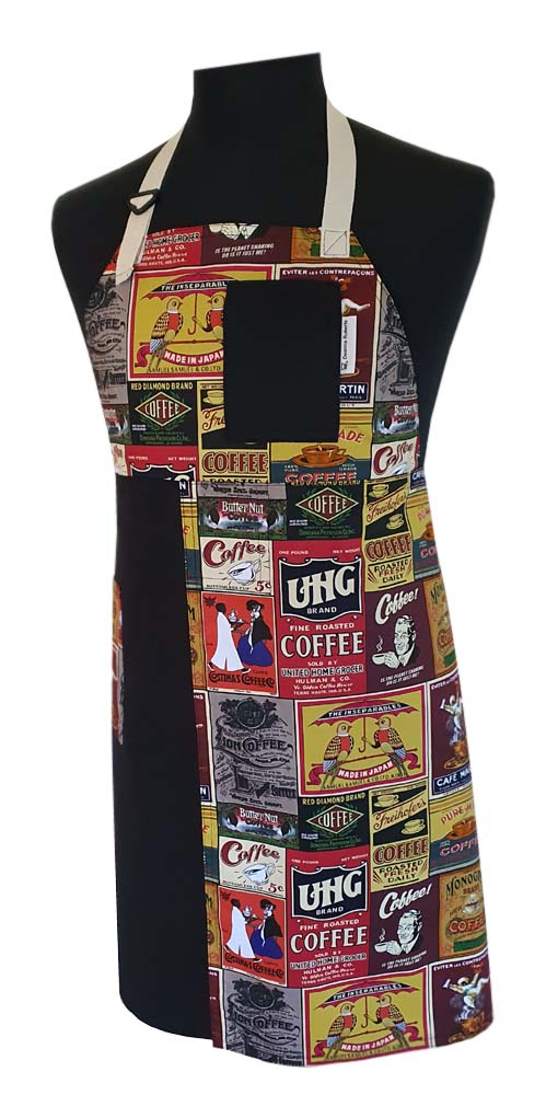 Coffee Time Split-leg apron - Deanna Roberts Studio (78 x 84)