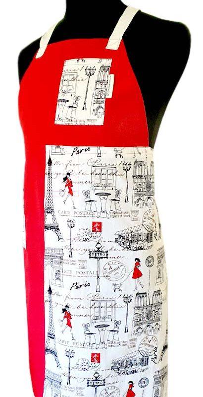 Carte Poste Split-leg apron (76 x 87) - Deanna Roberts Studio