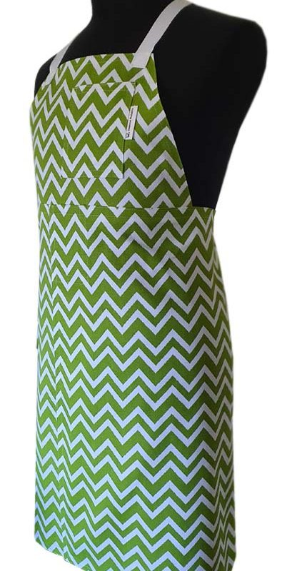 Chevron Meadow Split-leg apron (77 x 89) - Deanna Roberts Studio