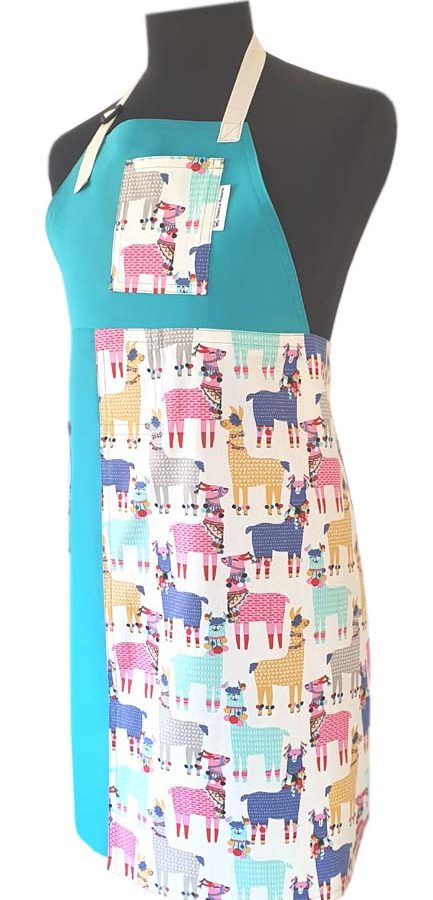 Llama Love Split-leg apron (77 x 89) - Deanna Roberts Studio