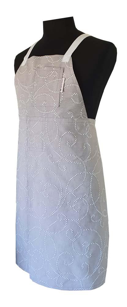Snow Drops Split-leg apron (79 x 90) - Deanna Roberts Studio