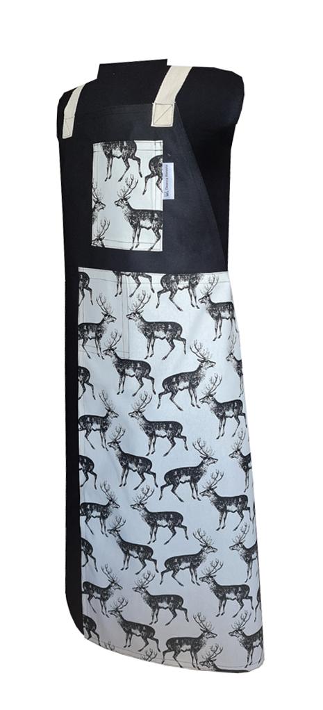Deer Me Split-leg apron (75 x 91) Crossover back - Deanna Roberts Studio