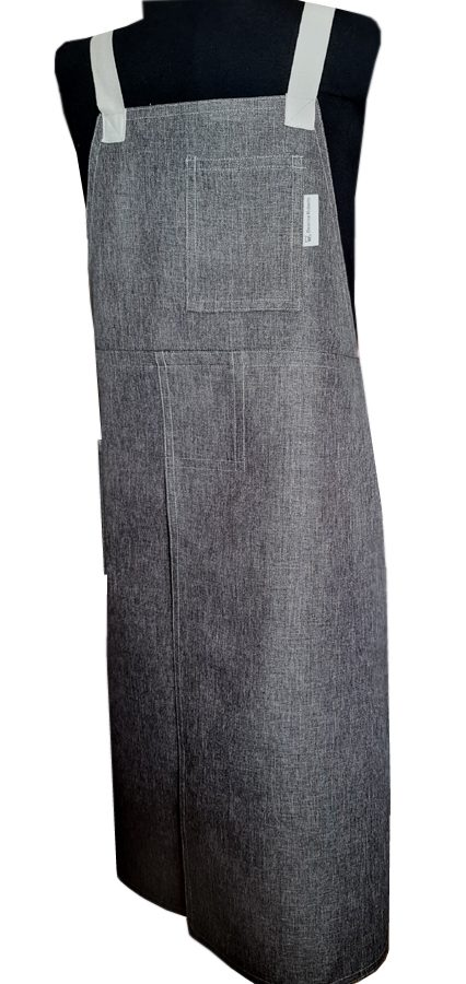 Dusty Charcoal Split-leg apron - Deanna Roberts Studio (78 x 92) Crossover back