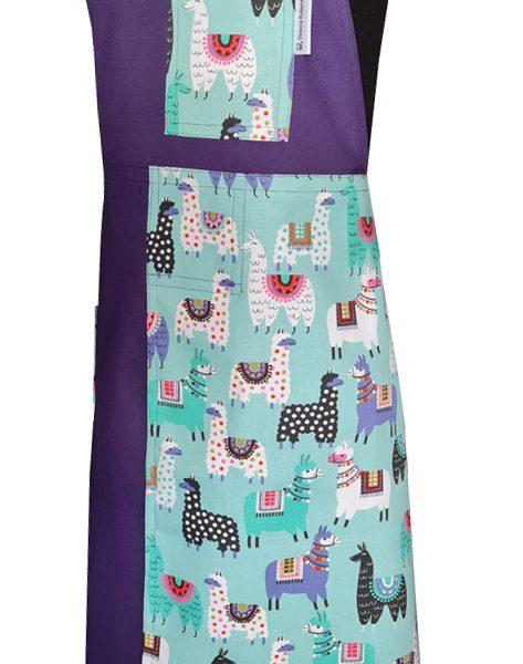 Happy Llama Split-leg apron (79 x 90) Crossover back - Deanna Roberts Studio (1)