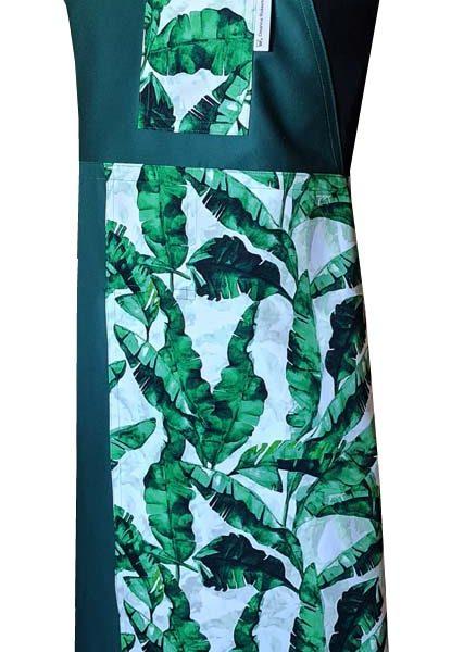 Rainforest Split-leg apron (78 x 91) Crossover back - Deanna Roberts Studio