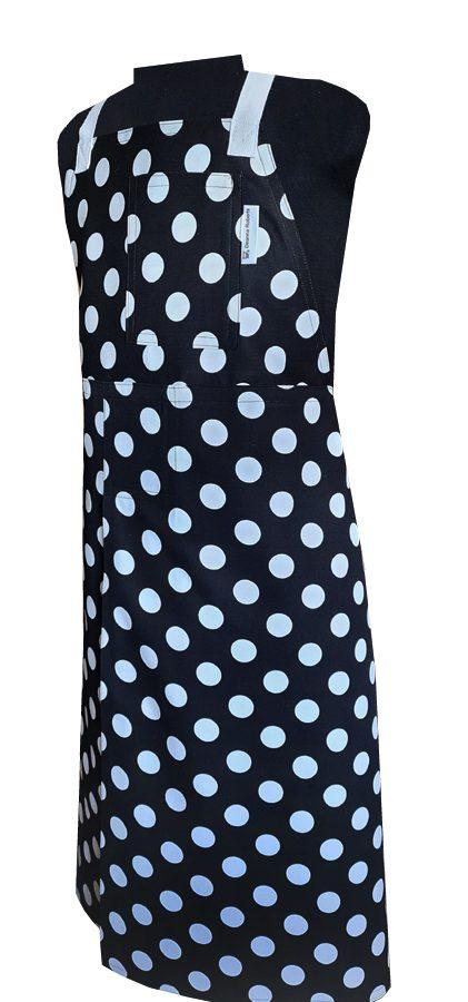 Spot This Split-leg apron (82 x 91) Crossover back - Deanna Roberts Studio
