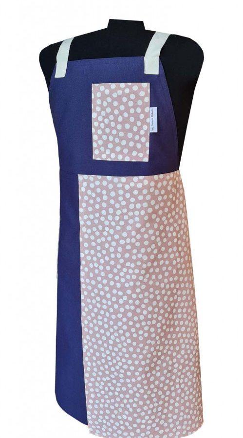 Winter Snow Split-leg apron (78 x 91) Crossover back - Deanna Roberts Studio