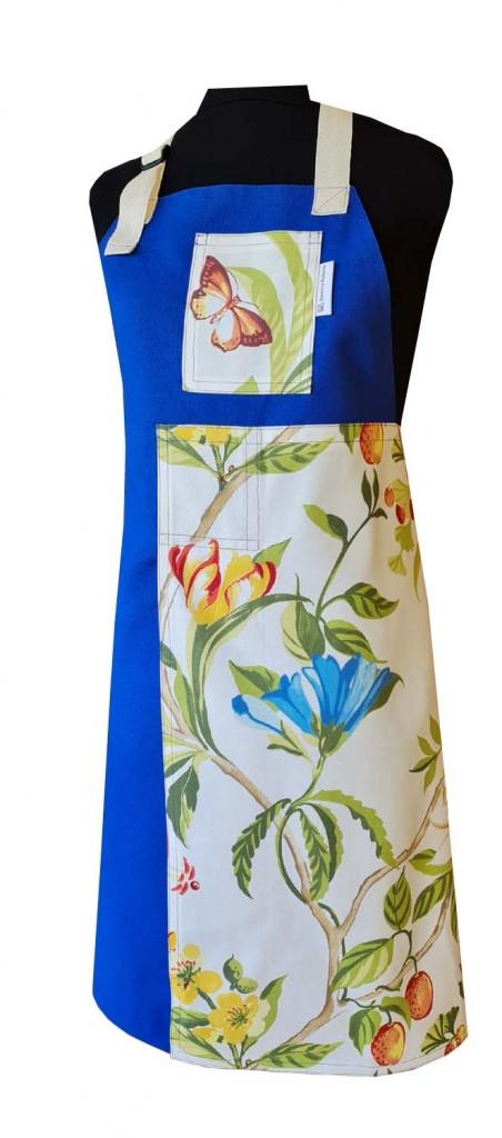 Bluebell Split-leg apron (76 x 88) with neck strap & waist ties - Deanna Roberts Studio