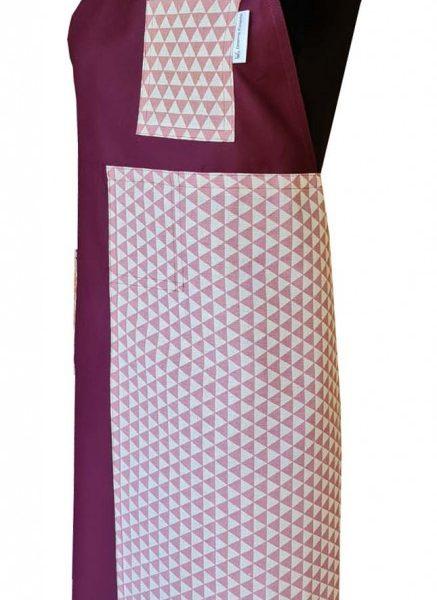 Blushed Split-leg apron (77 x 91) Crossover back - Deanna Roberts Studio