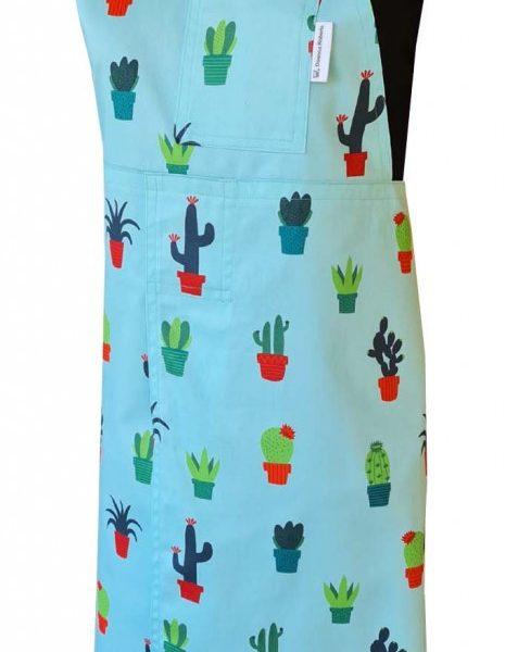 Happy Garden Split-leg apron (78 x 87) with neck strap & waist ties - Deanna Roberts Studio