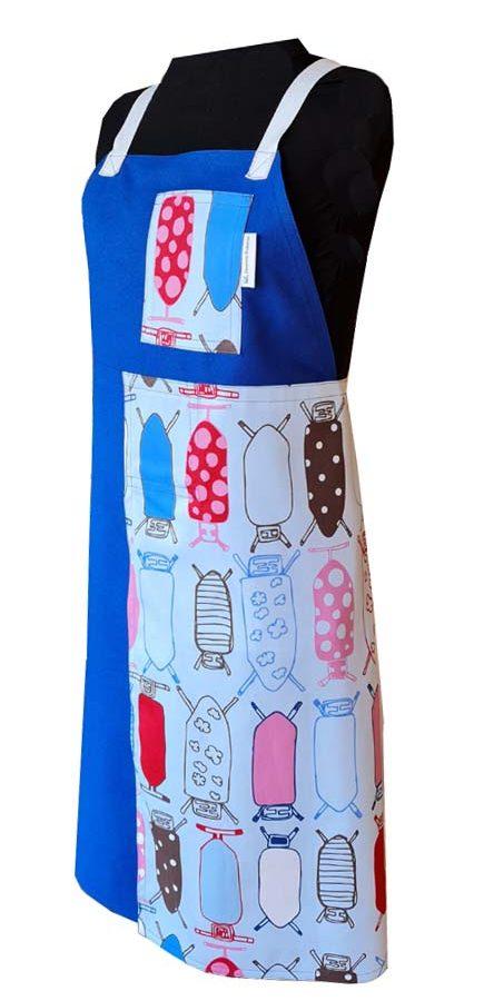 Pressed for Time Split-leg apron (80 x 91) Crossover back - Deanna Roberts Studio