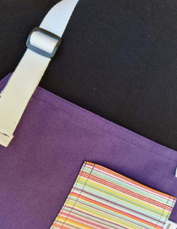 Straight Up Split-leg apron (79 x 91) with neck strap & waist ties - Deanna Roberts Studio