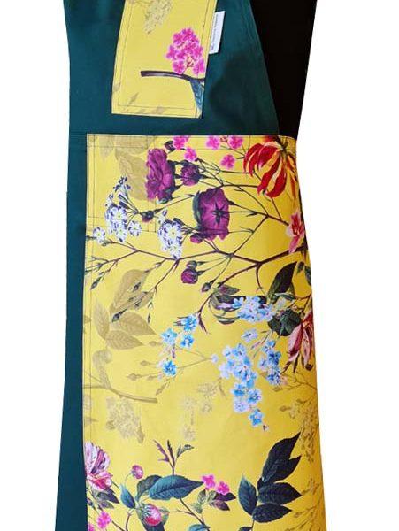Zen Garden Split-leg apron (79 x 89) with neck tie & waist straps - Deanna Roberts Studio