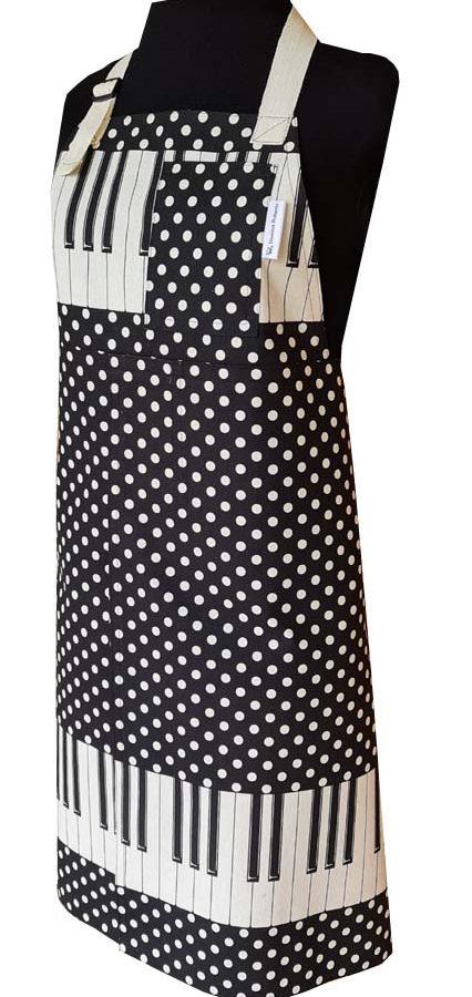Forte Split-leg apron (79 x 88) with adjustable neck strap & waist ties - Deanna Roberts Studio
