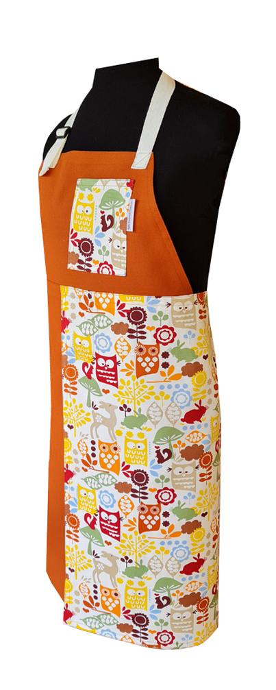 Gingerbread Split-leg apron (80 x 89) with adjustable neck strap and waist ties - Deanna Roberts Studio