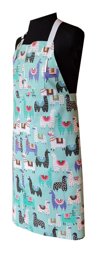 Gllama Split-leg apron (80 x 89) adjustable neck ties and waist straps - Deanna Roberts Studio